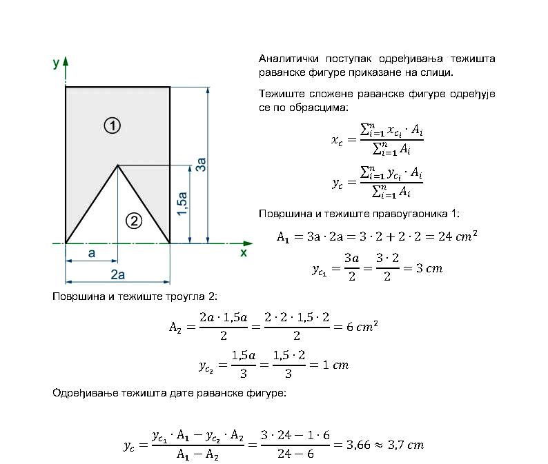Teziste ravanske figure primer 2 analiticki